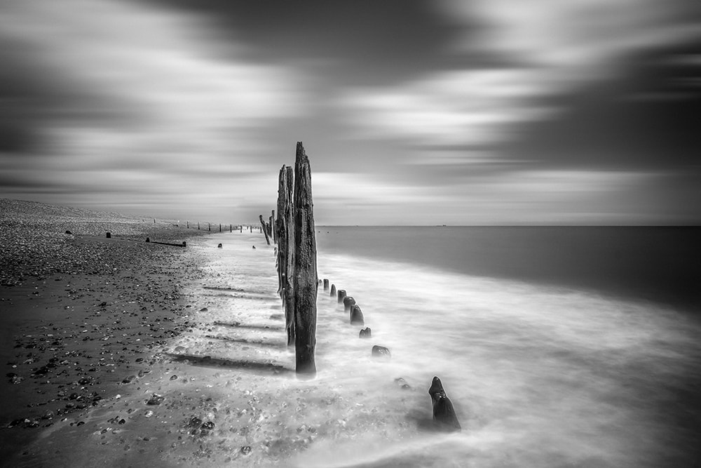 Black white seascape photography